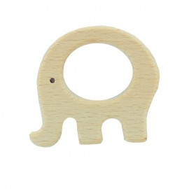 Natural wood teething ring - elephant
