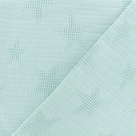 Jacquard cotton fabric - dusty mint Star x 10cm