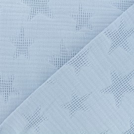 Jacquard cotton fabric - dusty blue Star x 10cm