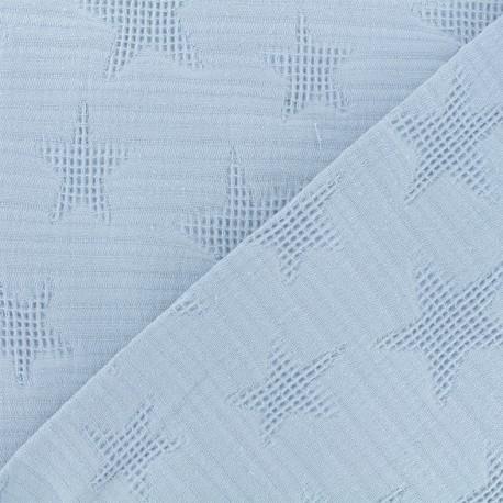 Jacquard cotton fabric - dusty blue Star x 10cm