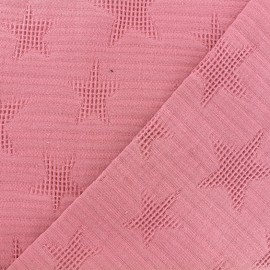 Jacquard cotton fabric - old rose Star x 10cm