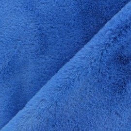 Faux fur fabric - navy blue Mondara x 10cm