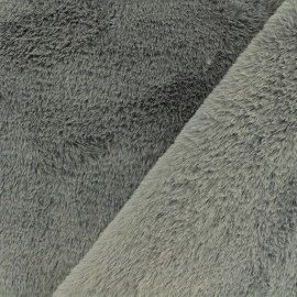 Faux fur fabric - grey Castorini x 10cm