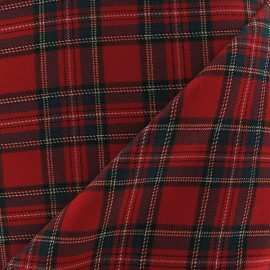 Scottish tartan fabric - red Berwickshire x10cm