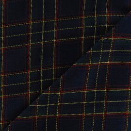 Scottish tartan fabric - navy/green Berwickshire x10cm
