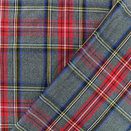 Scottish tartan fabric - grey Roxburgh x 10cm