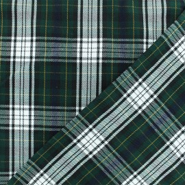 Scottish tartan fabric - green Tweeddale x 10cm