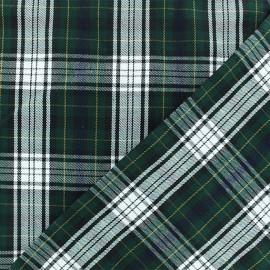 Tissu tartan écossais Tweeddale - vert x 10cm