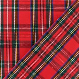 Scottish tartan fabric - red Tweeddale x 10cm