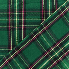 Scottish tartan fabric - green Sutherland x 10cm
