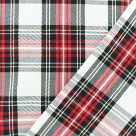 Scottish tartan fabric - ecru Sutherland x 10cm