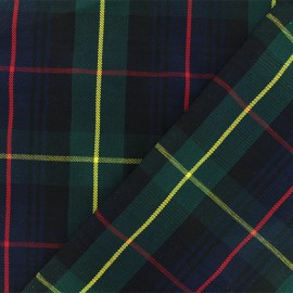 Tissu tartan écossais Lochaber - marine/vert x 10cm