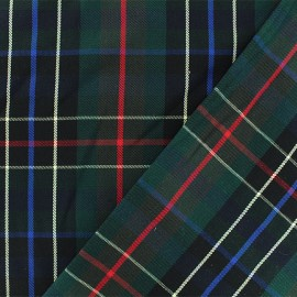 Scottish tartan fabric - green/black  Nairn x 10cm