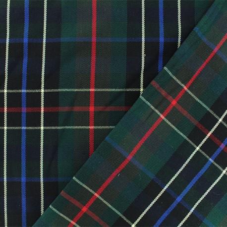 Tissu tartan écossais Nairn - noir/vert x 10cm