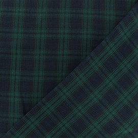 Scottish tartan fabric - green/navy Edinburgh x 10cm