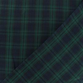 Tissu tartan écossais Edinburgh - marine/vert x 10cm