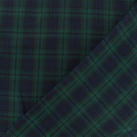 c9319ab86e33b Scottish tartan fabric - green navy Edinburgh x 10cm