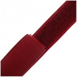 Self gripping Sew-on tape 20 mm- burgundy