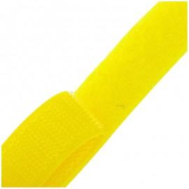 Ruban Auto-agrippant 20 mm - jaune x 1m