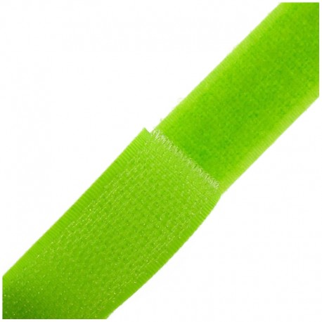 Ruban Auto-agrippant 20 mm - vert lime x 1m