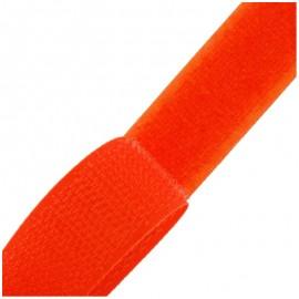 Ruban Auto-agrippant 20 mm - orange x 1m
