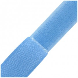 Self gripping Sew-on tape 20 mm - sky blue