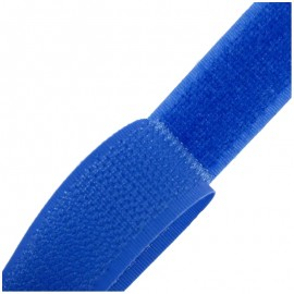 Self gripping Sew-on tape 20 mm - blue