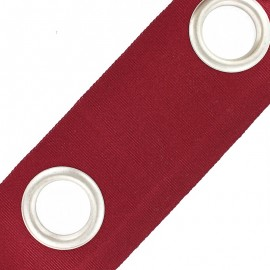 Double layer eyelet tape to sew 18 cm - cardinal