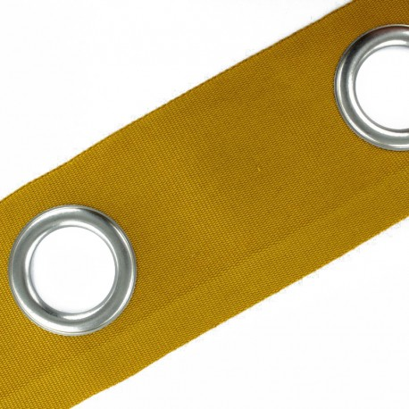 To sew color eyelet tape matte nickel - turmeric x 18cm