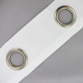 Bande à oeillets à feuillet à coudre blanc x 18cm