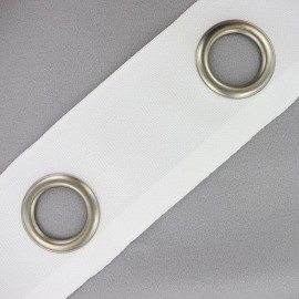 Double layer eyelet tape to sew 18 cm - white