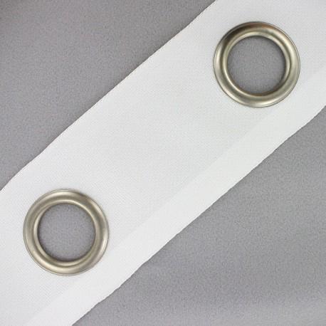 Double layer eyelet tape to sew 18 cm - white