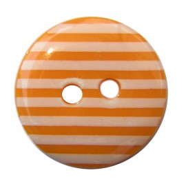 Button, stripes - orange