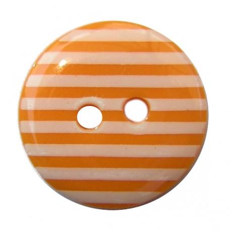 Bouton rayures orange