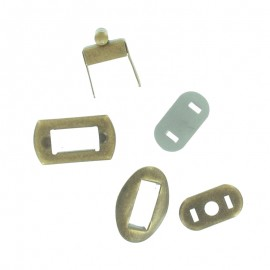 Turn Twist Lock Clasp Fastener 20x30 mm