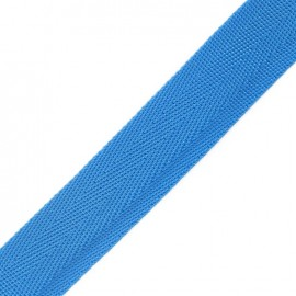 Polypropylene strap, herringbone 25 mm - turquoise
