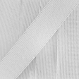 Woven flat elastic 20 mm - white