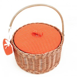 Boîte à couture ronde Willow - orange