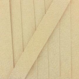 Lurex Bias binding - golden