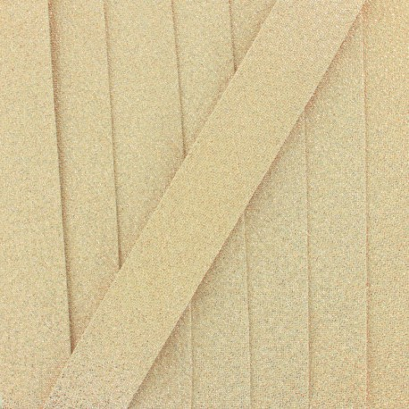 Lurex Bias binding - golden