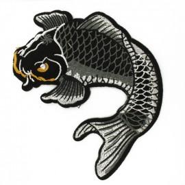 Thermocollant poisson carpe Koï - noir