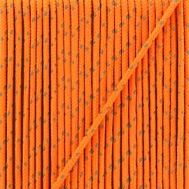 Cordon Sport réfléchissant 3 mm  - orange fluo x 1m
