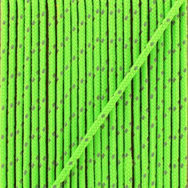 3 mm reflective cord - neon green Sport
