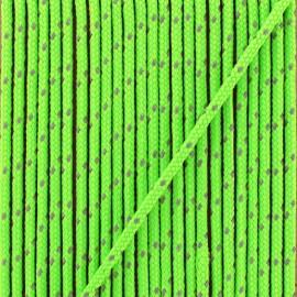 Cordon Sport réfléchissant 3 mm  - vert fluo x 1m