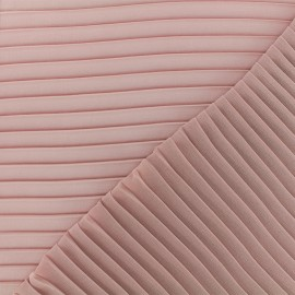 Light pleated crepe Fabric - old pink x 50cm