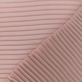 Tissu crêpe léger plissé - vieux rose x 50cm