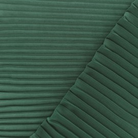 Light pleated crepe Fabric - pine green x 50cm