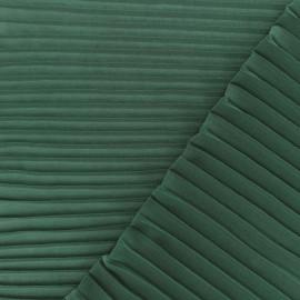 Tissu crêpe léger plissé - vert sapin x 50cm