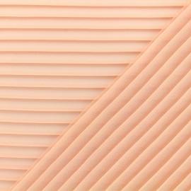 Light pleated crepe Fabric - nude x 50cm