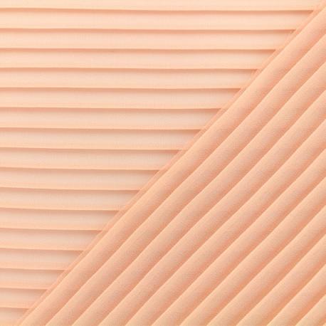 Tissu crêpe léger plissé - nude x 50cm